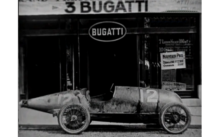 Cigar shape bugatti car