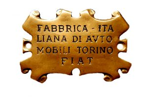 Fiat logo from 1899 to 1901
